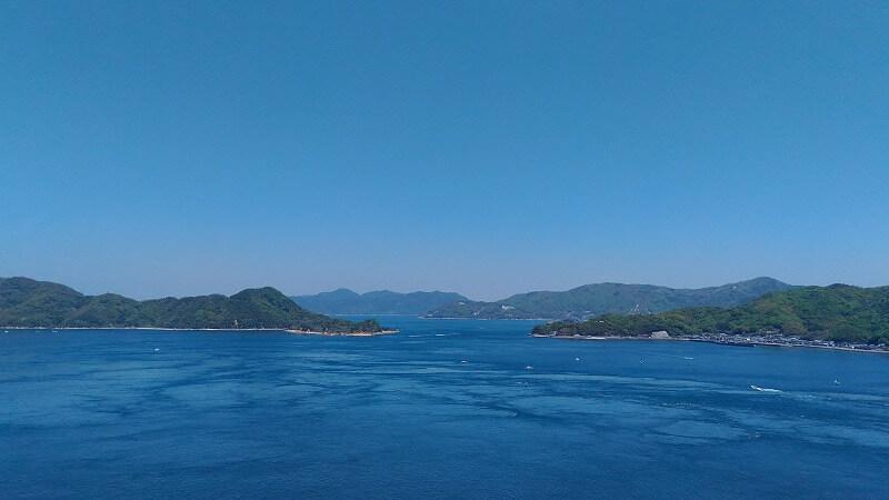 来島海峡大橋の上から見る瀬戸内海の絶景