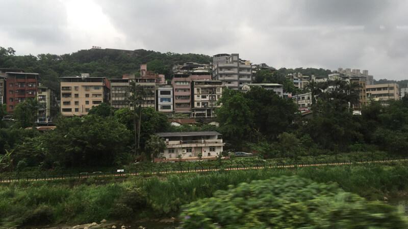 台湾の車窓